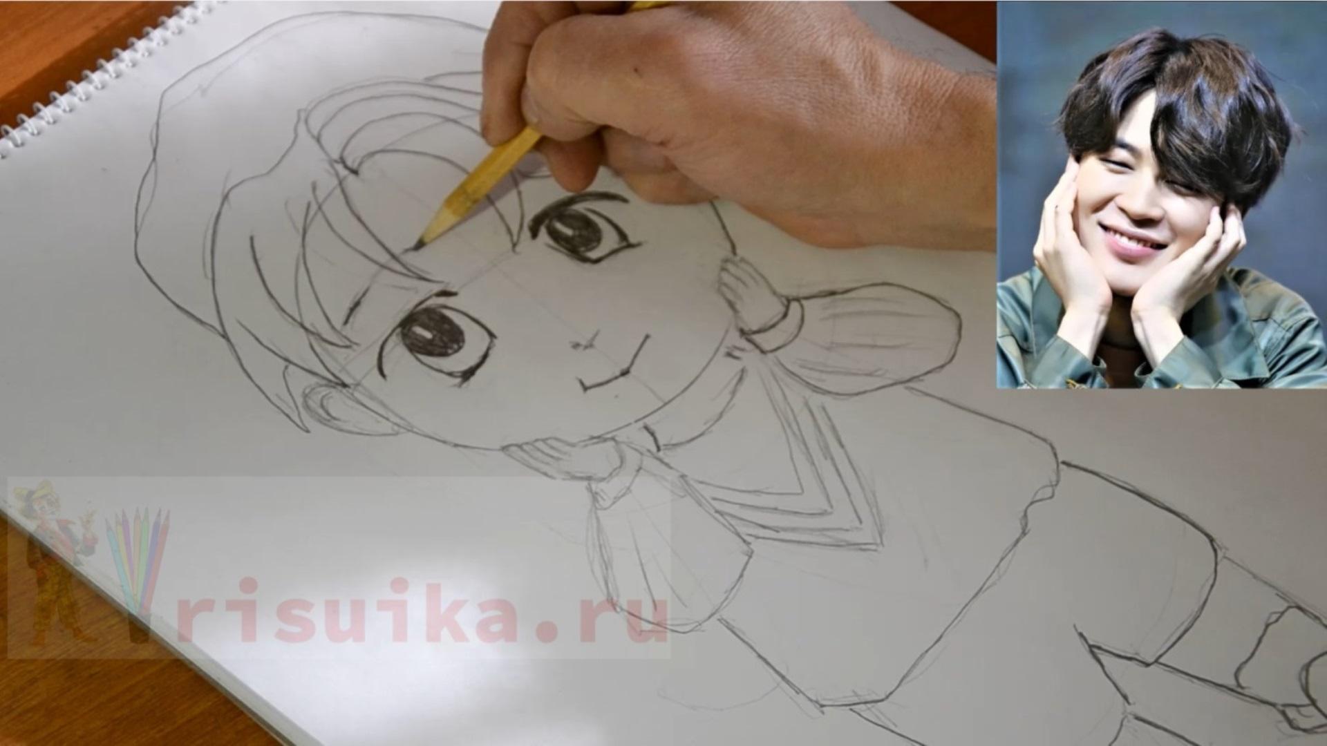 Как нарисовать Jimina