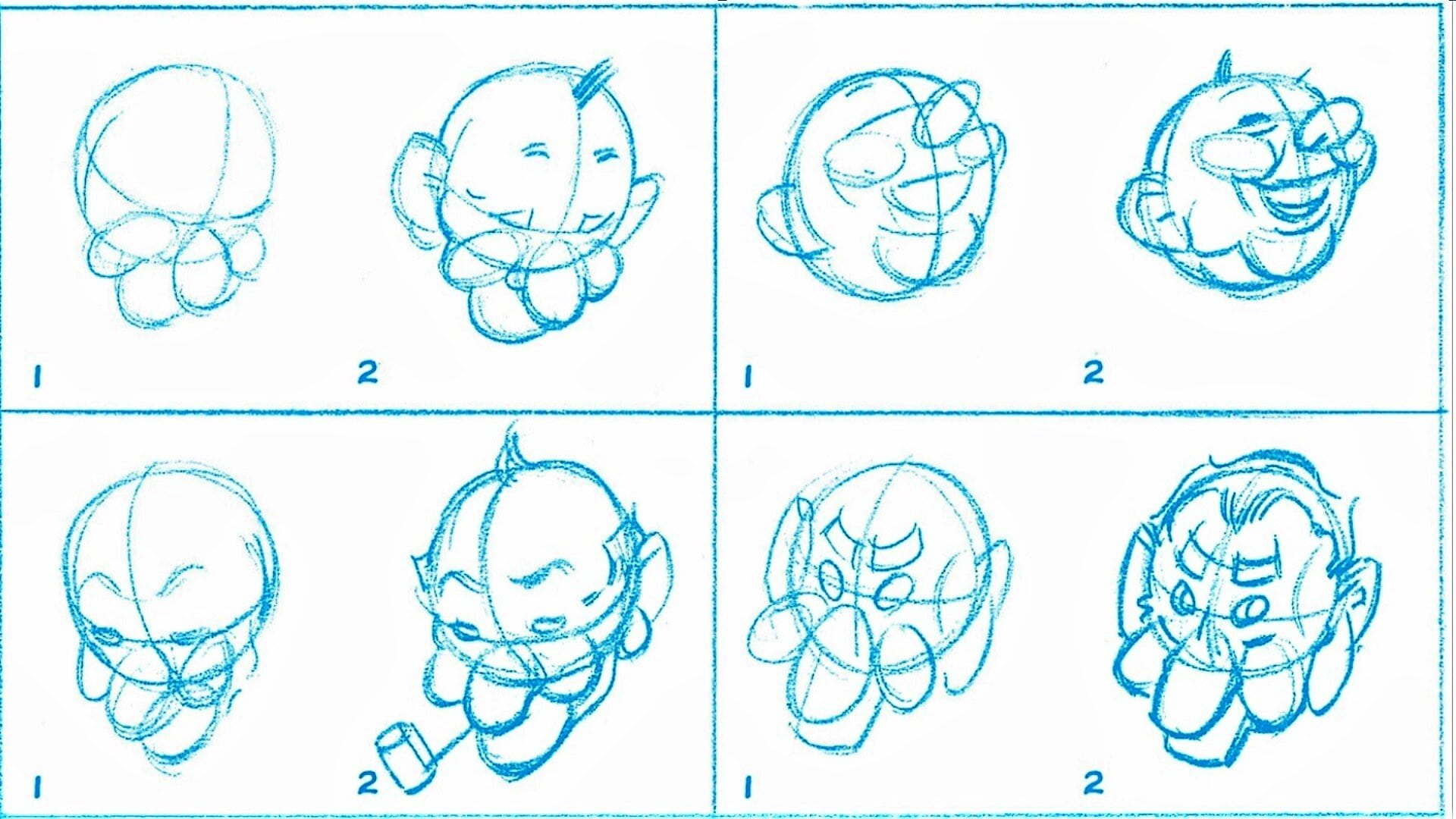 Рисуем весёлые лица